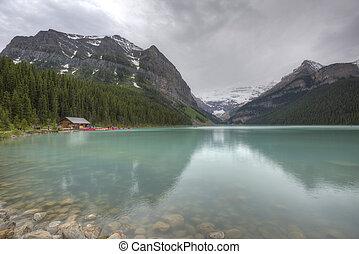 canada,  Banff,  louise, nazionale,  -, lago, parco,  Alberta