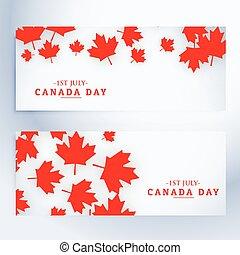 canada, bannières, 1er, juillet, jour