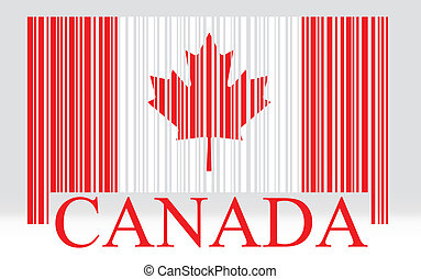 Canada barcode flag
