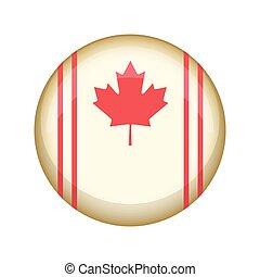 canada, bouton, retro, campagne