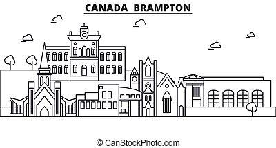 canada, brampton, architettura, linea, orizzonte,...