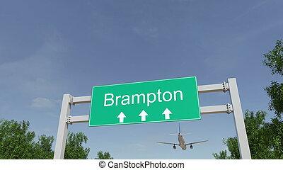 canada, brampton, interpretazione, arrivare, aeroporto,...
