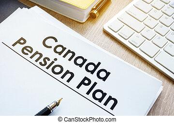 canada, bureau, desk., pension, plan, (cpp)