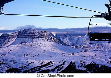 canada,  chairlift,  Banff, nazionale, parco,  Alberta
