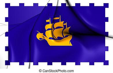 canada., cidade quebec, bandeira