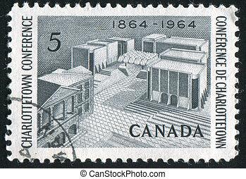 Memorial - CANADA - CIRCA 1964: stamp printed by Canada,...