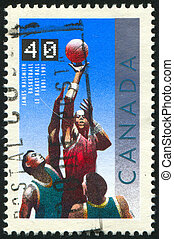 stamp - CANADA - CIRCA 1991: stamp printed by Canada, shows ...