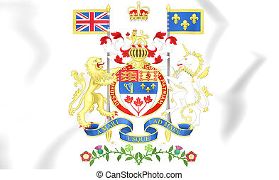 Canada Coat of Arms. 3D Illustration.
