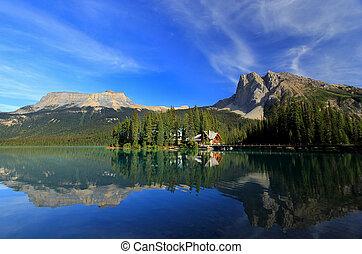 canada, colombie, yoho, national, britannique, parc, lac, ...