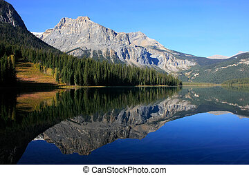 canada,  Columbia,  yoho, nazionale, britannico, parco, lago, smeraldo