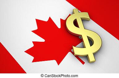 canada, concetto, economia