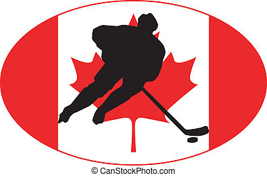 canada, couleurs, hockey