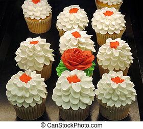 Canada Day Cupcakes - White cupcakes with vanilla icing...