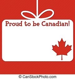 Canada Day cut out tag card in vector format.