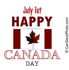 canada, drapeau national, jour