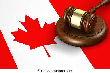 canada, droit & loi, système légal, concept
