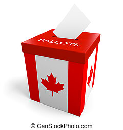 Canada election ballot box for collecting votes.