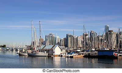 canada, en ville, vancouver, cityscape