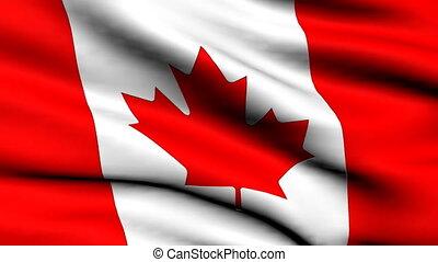 canada, faire boucle, drapeau, fond