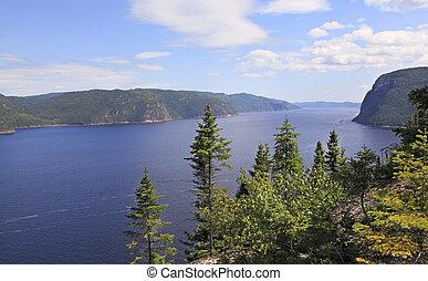 canada, fjord, québec, saguenay