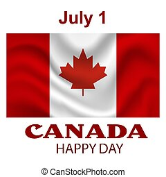 Canada Flag background. Happy Canada day poster template.