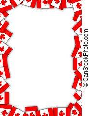 Canada flag border - Illustrated Canadian flag border