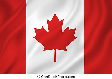 Canada flag - Canada national flag background texture.