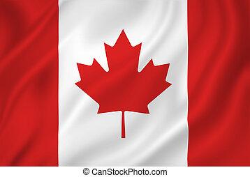 Canada flag - Canada national flag background texture.