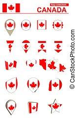 Canada Flag Collection. Big set for design.