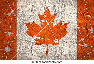 Canada flag concept