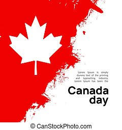 Canada flag day, maple leaf day design background. Happy Canadian national day banner.