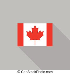 Canada flag flat design vector illustration