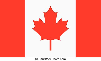 canada Flag for Independence Day and infographic Vector illustration.