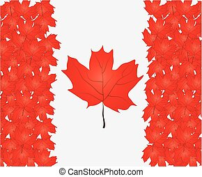 Canada Flag for Independence Day. Vector illustration.