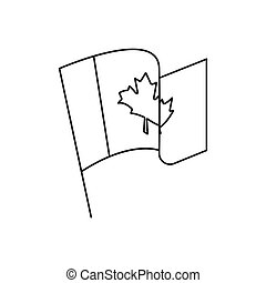 Canada flag icon, outline style
