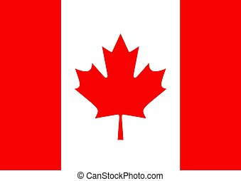 Illustrated flag of Canada