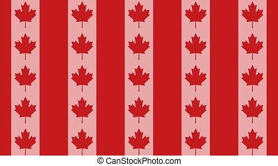 Canada flag on infinite zoom