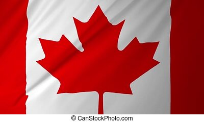 Canada flag seamless animation 2 in 1 - Canada flag seamless...