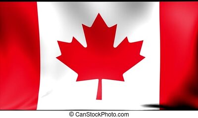 Canada Flag. Seamless Looping Animation.