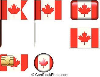 Canada flag set
