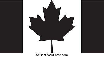 Canada flag silhouette