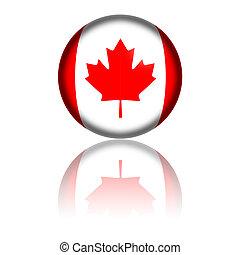 Canada Flag Sphere 3D Rendering
