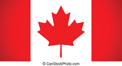 canada, flag., vecteur, illustration.