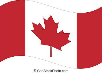 canada, flag., vecteur
