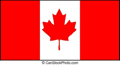 Canada flag vector illustration isolated on background