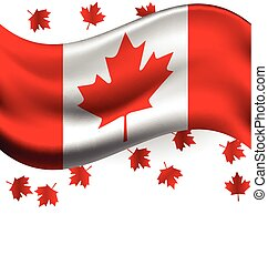 Canada flag with Maple flying for the national day of Canada