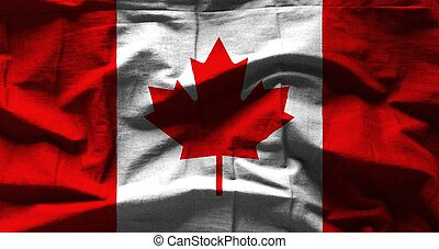 Canada flag with texture on background