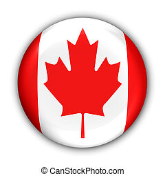 World Flag Button Series - North America- Canada (With Clipping Path)