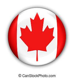 Canada Flag - World Flag Button Series - North America-...