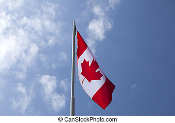 canada, flagpole, nationale vlag
